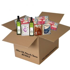 Olive Oil, Pitta Bread & Cheese Bundle